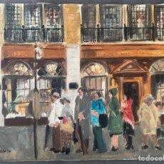 Arte: ANTONI VIVES FIERRO , BARCELONA , ÓLEO SOBRE LIENZO , AÑO 1976 , LONDON. Lote 196170727