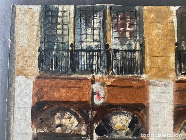 Arte: ANTONI VIVES FIERRO , BARCELONA , ÓLEO SOBRE LIENZO , AÑO 1976 , LONDON - Foto 3 - 196170727