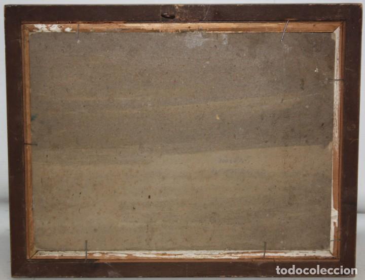 Arte: ANONIMO DE LOS AÑOS 40. OLEO SOBRE CARTON. VISTA DE UNA CATEDRAL - Foto 6 - 210771799