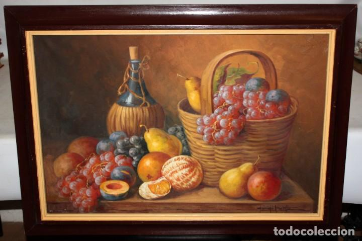 Arte: FIRMADO GEORGE MARTIN. OLEO SOBRE TELA DE MEDIADOS DEL SIGLO XX. BODEGON DE FRUTAS - Foto 2 - 210774682