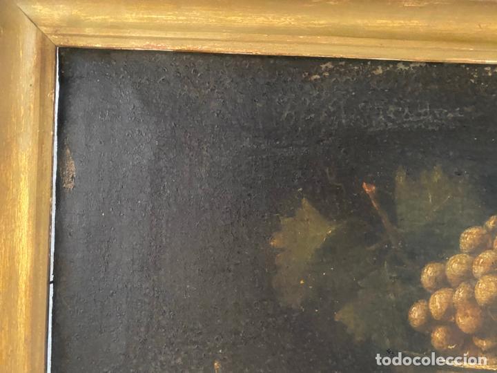 Arte: bodegon del S. XVII , escuela española , sandía , uvas , pájaro - Foto 3 - 210782850