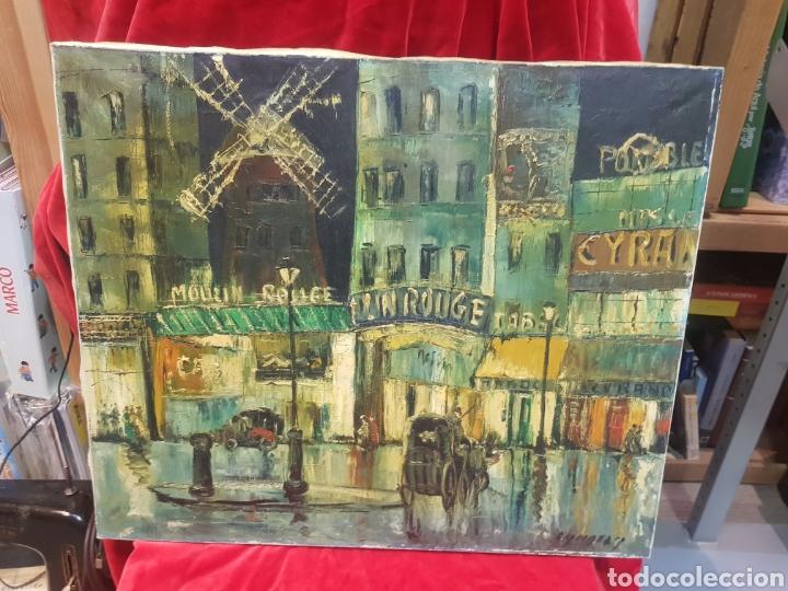 Arte: Cuadro óleo moulin Rouge desconozco el autor estilo contemporáneo Bilbao? - Foto 3 - 210785981