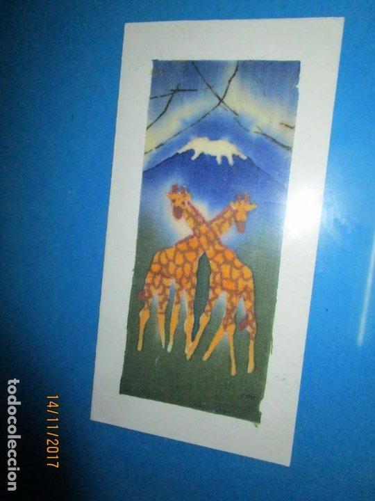 Arte: antigua pintura en tela jirafas firmado - Foto 14 - 210809406