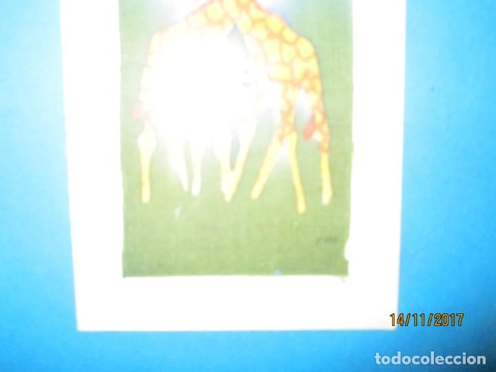 Arte: antigua pintura en tela jirafas firmado - Foto 16 - 210809406