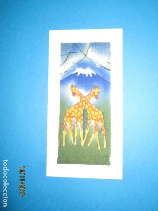 Arte: antigua pintura en tela jirafas firmado - Foto 17 - 210809406