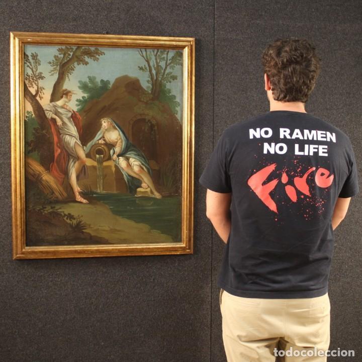 Arte: Pintura mitológica italiana antigua Baco y Ariadna del siglo XVIII - Foto 4 - 210843320