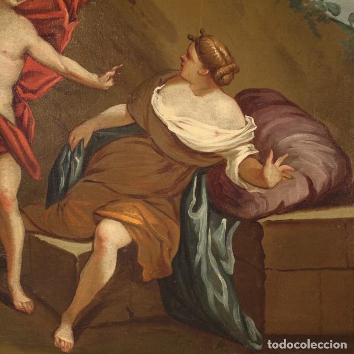 Arte: Pintura mitológica italiana antigua Baco y Ariadna del siglo XVIII - Foto 10 - 210843320