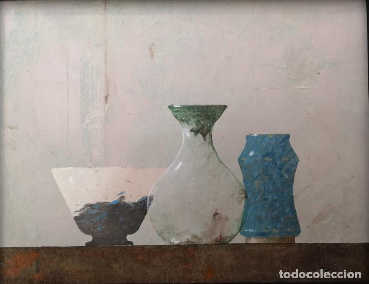 GARAIZÁBAL, JAVIER. (FERROL, A CORUÑA, 1944). BODEGÓN. ÓLEO SOBRE TABLA. (Arte - Pintura - Pintura al Óleo Contemporánea )