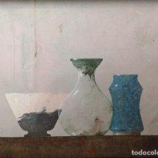 Arte: GARAIZÁBAL, JAVIER. (FERROL, A CORUÑA, 1944). BODEGÓN. ÓLEO SOBRE TABLA.. Lote 210943815