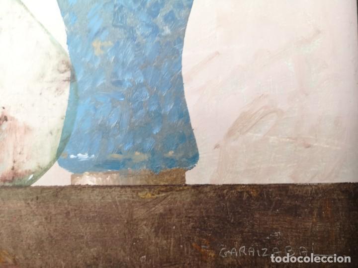 Arte: Garaizábal, Javier. (Ferrol, A Coruña, 1944). Bodegón. Óleo sobre tabla. - Foto 3 - 210943815
