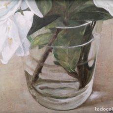 Arte: GARAIZÁBAL, JAVIER. (FERROL, A CORUÑA, 1944). VASO CON FLOR. ÓLEO SOBRE TABLA.. Lote 210943964