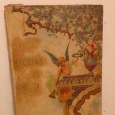 Arte: CARTEL SEVILLA 1897 FIESTAS DE PRIMAVERA. OLEO SOBRE LIENZO 97 X 44 CMS. Lote 210944742