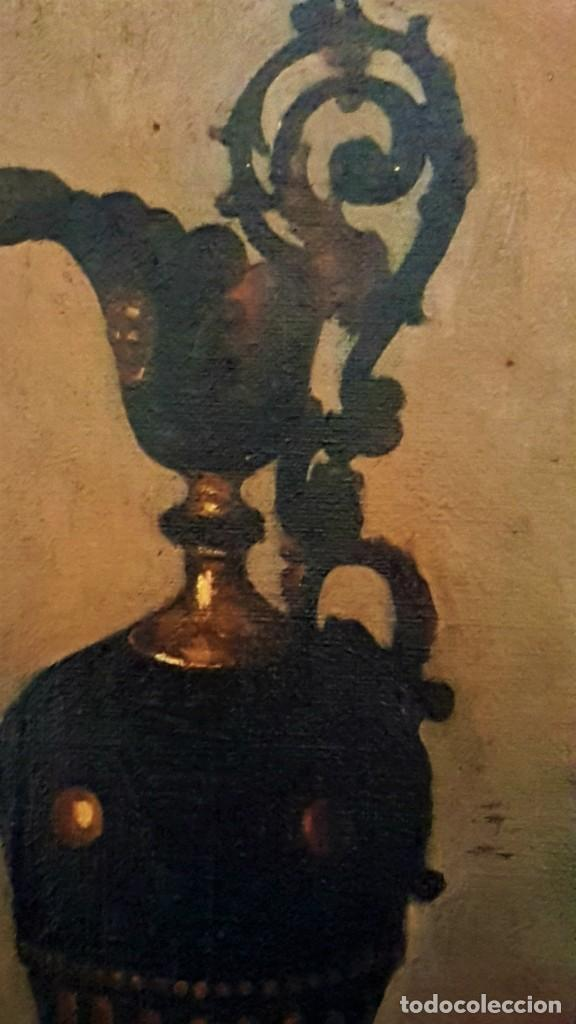 Arte: RAFAEL SANCHIS TOMÁS , ESCUELA ESPAÑOLA S.XIX ,BODEGÓN JARRÓN Y FLORES .ÓLEO/LIENZO 48 x 32´5 - Foto 5 - 210955762