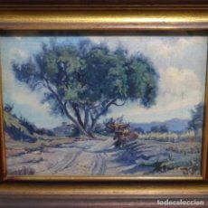 Arte: ÓLEO SOBRE TABLA DE RICARDO TARREGA VILADOMS (BCN 1904-1999).PIRINEOS CATALÁN.CAMPILLAR.. Lote 210968701