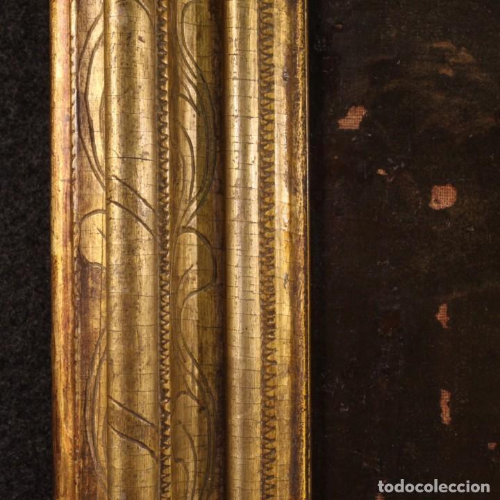 Arte: Pintura antigua escena de fuego nocturno con personajes del siglo XVIII - Foto 10 - 211263707