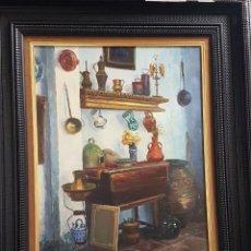 Arte: FRANCISCO RODRIGO RAUSELL (VALENCIA 1929) RINCÓN DE MI ESTUDIO .ÓLEO SOBRE LIENZO 52 X 46. Lote 211269045