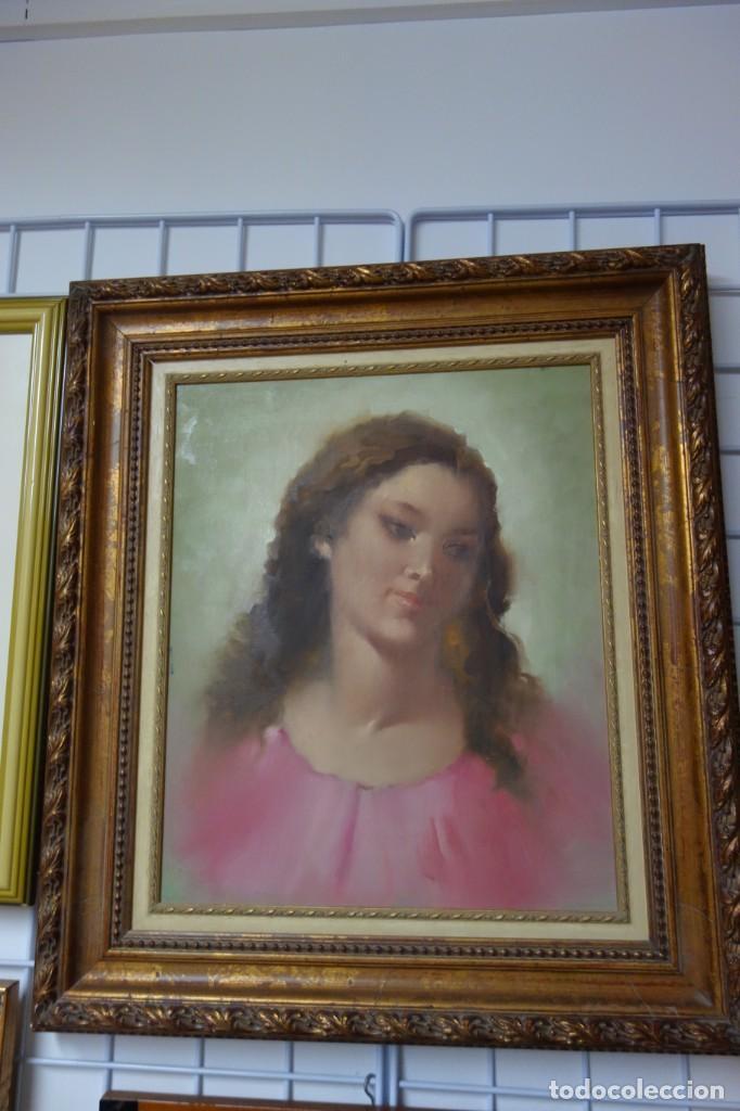 CUADRO OLEO SOBRE LIENZO DE LOS AÑOS 40 FIRMADO OLIS (Arte - Pintura - Pintura al Óleo Moderna siglo XIX)