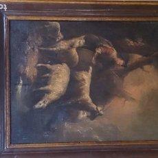 Arte: PASTOR CON OVEJAS. OLEO SOBRE TABLA ANTIGUA ( MUY BUENA PIEZA.). Lote 211438497