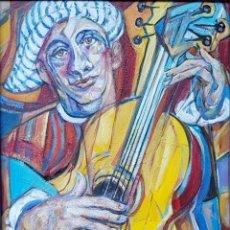 Arte: RUFINO PERAL - MUSICO - OLEO SOBRE TABLA. Lote 211440085