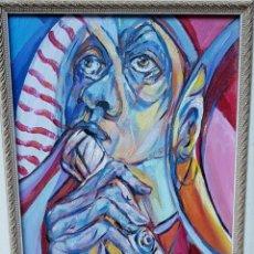 Arte: RUFINO PERAL - MUSICO - OLEO SOBRE TABLA. Lote 211440297