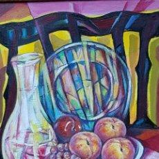 Arte: RUFINO PERAL - BODEGON - OLEO SOBRE TABLA. Lote 211440515