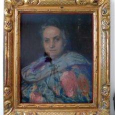 Art: GUILLONNET, OCTAVE DENIS PORTRAIT PASTEL FRENCH ESCHOOL MADAME XIX RETRATO MUJER ESCUELA FRANCESA. Lote 211458591