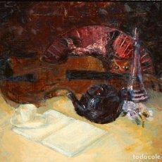 Arte: JOSE MANUEL LATRE (CASPE, 1949) OLEO SOBRE TABLA. BODEGON. Lote 211460166