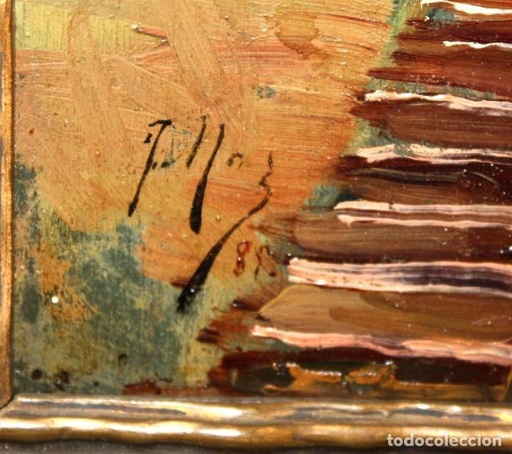 Arte: FRANCISCO MAS Y CARRASCO (Valencia, fin. siglo xix) OLEO SOBRE TABLA. PAISAJE - Foto 5 - 211461542