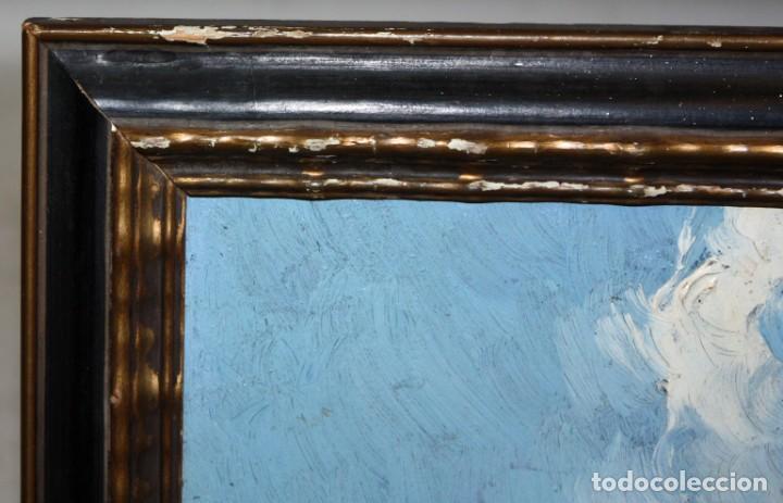 Arte: FRANCISCO MAS Y CARRASCO (Valencia, fin. siglo xix) OLEO SOBRE TABLA. PAISAJE - Foto 6 - 211461542