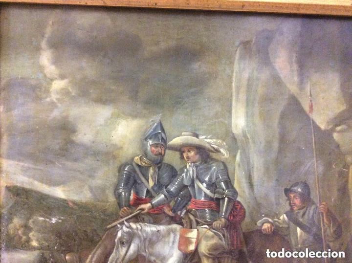 Arte: D.QUIXOTE DE LA MANCHA,Óleo sobre Plancha de cobre con escena del Quijote,finales del Siglo XVIII - Foto 2 - 211501097
