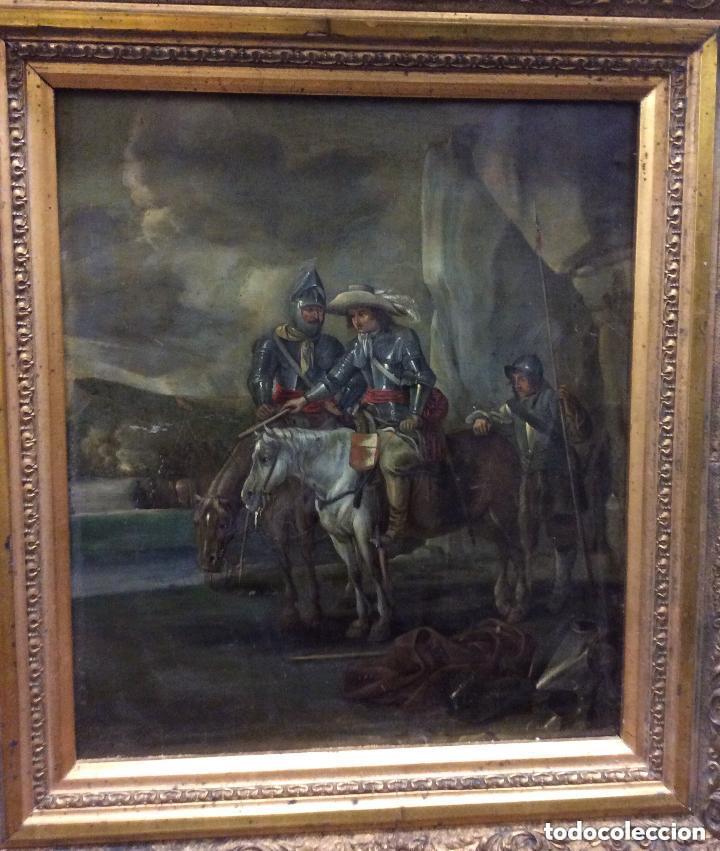 Arte: D.QUIXOTE DE LA MANCHA,Óleo sobre Plancha de cobre con escena del Quijote,finales del Siglo XVIII - Foto 7 - 211501097
