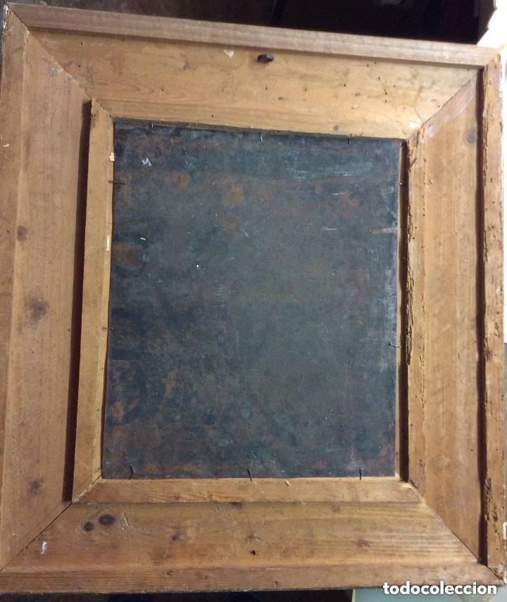 Arte: D.QUIXOTE DE LA MANCHA,Óleo sobre Plancha de cobre con escena del Quijote,finales del Siglo XVIII - Foto 10 - 211501097