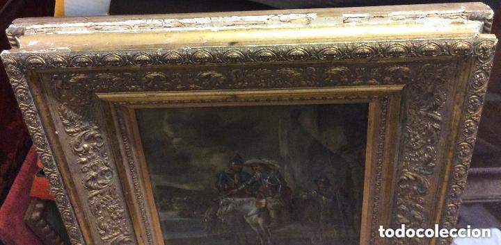 Arte: D.QUIXOTE DE LA MANCHA,Óleo sobre Plancha de cobre con escena del Quijote,finales del Siglo XVIII - Foto 11 - 211501097