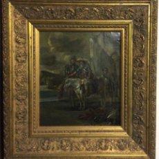 Arte: D.QUIXOTE DE LA MANCHA,ÓLEO SOBRE PLANCHA DE COBRE CON ESCENA DEL QUIJOTE,FINALES DEL SIGLO XVIII. Lote 211501097