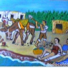 Arte: ADRA.-ESTAMPS DESAPARECIDAS, ÓLEO ,MADERA 30X40 CM. DE CRESPO. Lote 211525157