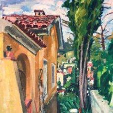 Arte: IGNASI MUNDÓ MARCET (1918-2012) - RINCÓN DE JARDÍN - ÓLEO SOBRE LIENZO. Lote 211632386