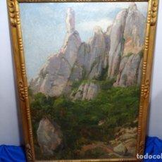 Arte: ÓLEO DE JOAN VALLHONRAT SADURNÍ(CORNELLA DE LLOBREGAT 1874-1937).COMPAÑERO DE PICASSO.CABALL BERNAT.. Lote 211667174