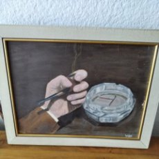 Arte: CUADRO ÓLEO SOBRE TABLA FIRMADO LARA. Lote 211674016