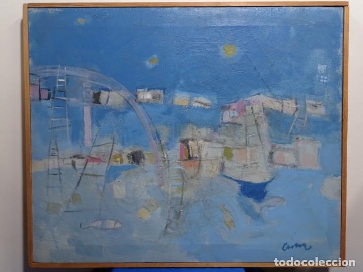 ÓLEO SOBRE TELA ILEGIBLE CERCANO A LA OBRA DE MANUEL HERNÁNDEZ MOMPO. (Arte - Pintura - Pintura al Óleo Contemporánea )