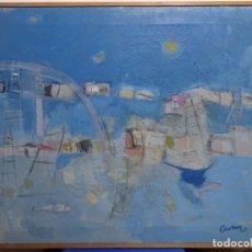 Arte: ÓLEO SOBRE TELA ILEGIBLE CERCANO A LA OBRA DE MANUEL HERNÁNDEZ MOMPO.. Lote 211729436