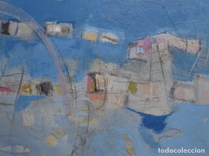 Arte: Óleo sobre tela ilegible cercano a la obra de Manuel Hernández mompo. - Foto 2 - 211729436