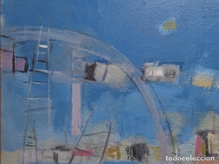 Arte: Óleo sobre tela ilegible cercano a la obra de Manuel Hernández mompo. - Foto 3 - 211729436