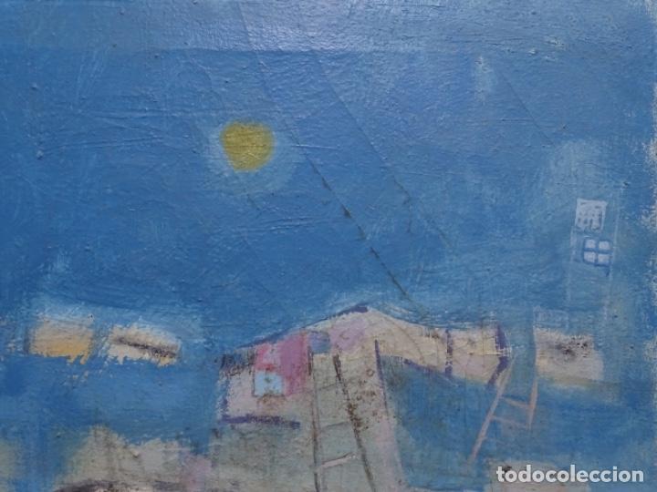 Arte: Óleo sobre tela ilegible cercano a la obra de Manuel Hernández mompo. - Foto 4 - 211729436