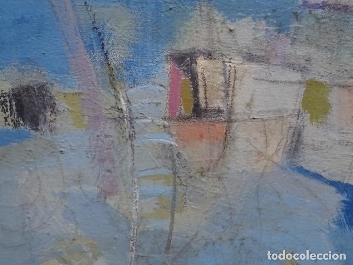 Arte: Óleo sobre tela ilegible cercano a la obra de Manuel Hernández mompo. - Foto 5 - 211729436
