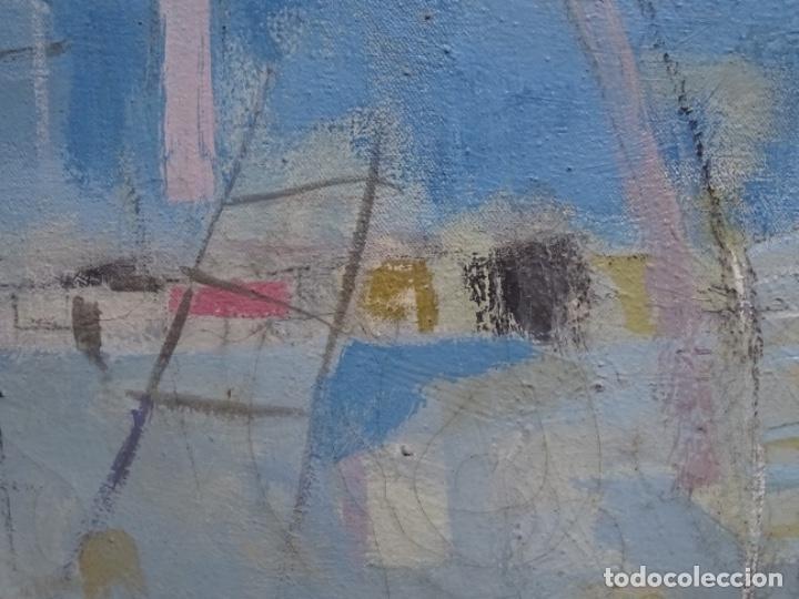 Arte: Óleo sobre tela ilegible cercano a la obra de Manuel Hernández mompo. - Foto 6 - 211729436