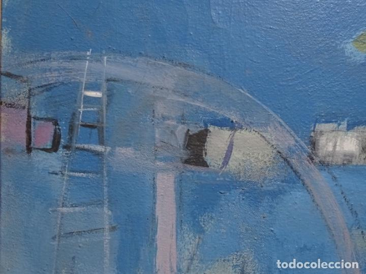 Arte: Óleo sobre tela ilegible cercano a la obra de Manuel Hernández mompo. - Foto 7 - 211729436