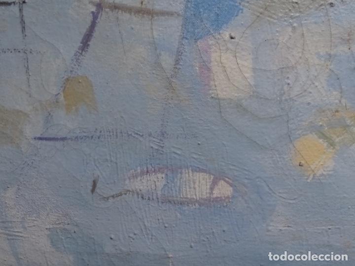 Arte: Óleo sobre tela ilegible cercano a la obra de Manuel Hernández mompo. - Foto 8 - 211729436