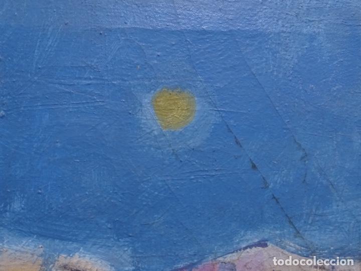 Arte: Óleo sobre tela ilegible cercano a la obra de Manuel Hernández mompo. - Foto 9 - 211729436