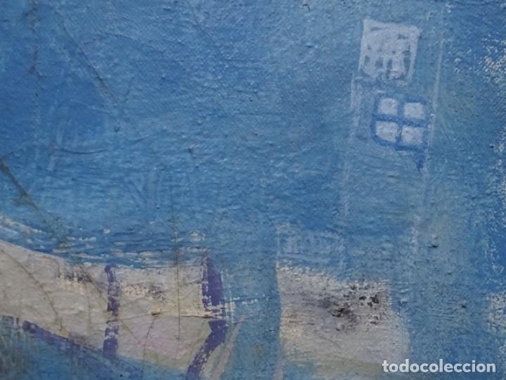 Arte: Óleo sobre tela ilegible cercano a la obra de Manuel Hernández mompo. - Foto 10 - 211729436