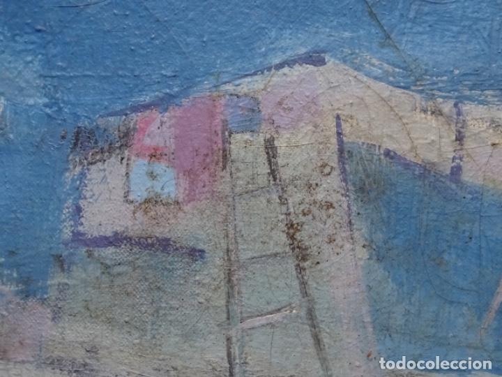 Arte: Óleo sobre tela ilegible cercano a la obra de Manuel Hernández mompo. - Foto 11 - 211729436